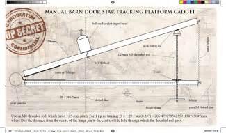 Barn Door Tracker Plans And Using A Manual Barn Door Tracker Psychohistorian Org