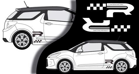 Racing Paradise Sticker by Stickers Citroen Ds3 Lateral Racing 2013