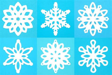 pattern making paper walmart cut out snowflake templates christmas crafts for kids 3