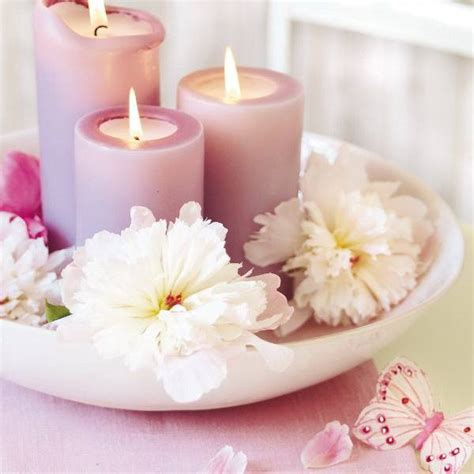 send wedding flowers idea 15 floral candles centerpieces with peony flowers
