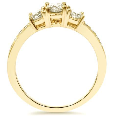1 ct 3 engagement ring 10k yellow gold ebay