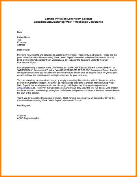 exle of formal letter of visit 6 exle of formal invitation letter lpn resume