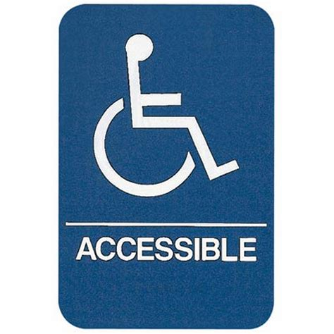 wheelchair accessible home sign wheelchair accessible ada compliant educator s depot
