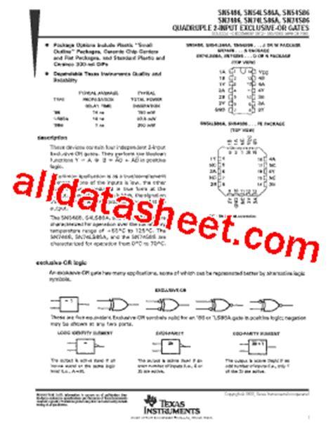transistor uln2003an datasheet pdf ticom sn7486n datasheet pdf instruments