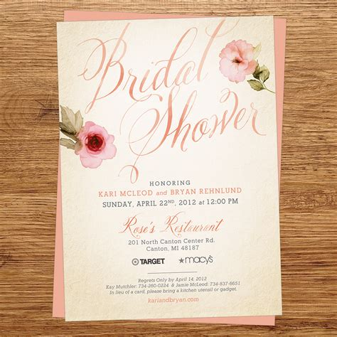 What To Say In A Bridal Shower Invitation by Wedding Stuff Wedding Invitations And Ideas