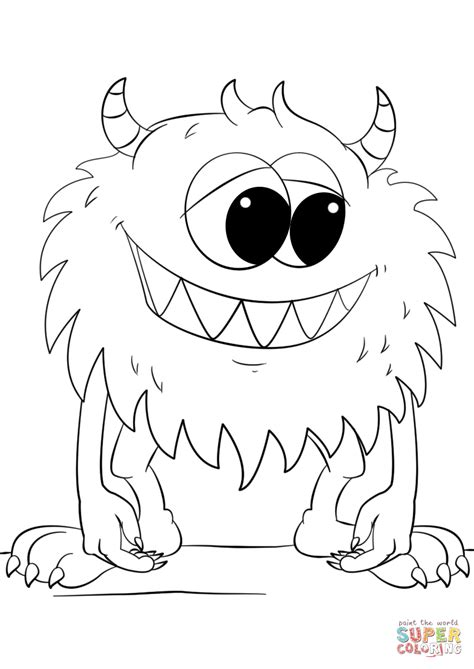 coloring pages cute monsters www pixshark com images