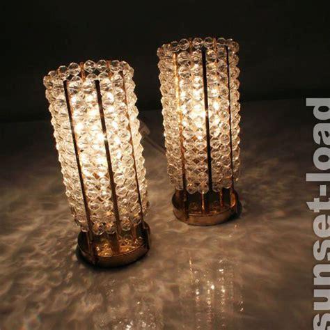 nachttisch 70 jahre paar tisch len nachttisch leuchten kunststoff perlen