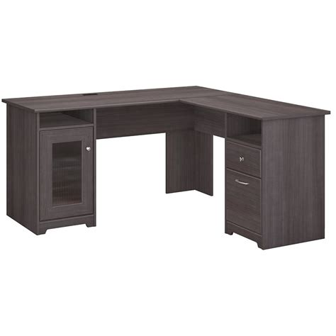 grey l shaped desk l shape wood executive bush series desk grey home office