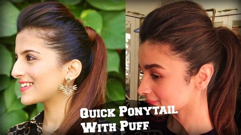 hairstyles for college girl in india 1 min perfect puff with a quick high ponytail hairstyle