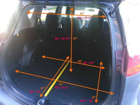 Toyota Rav4 Cargo Space Dimensions Is Nx A Copy Of Rav4 Page 2 Clublexus Lexus Forum