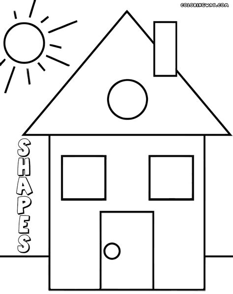 house shape coloring pages winter house coloring pages