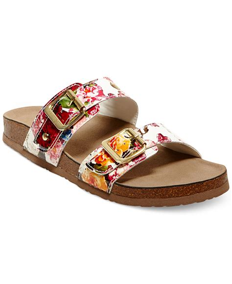 Floral Sandals madden brando print faux leather sandals in floral