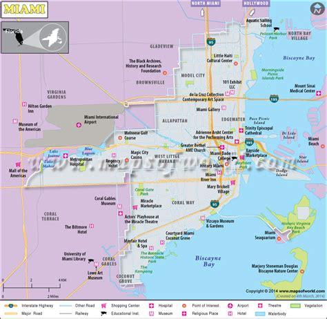 usa map with miami miami map map of miami miami florida map