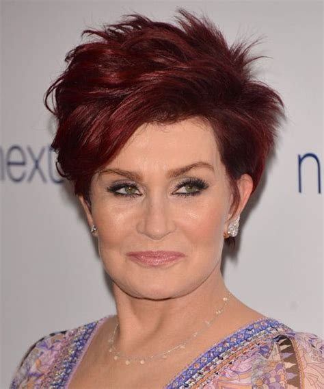 how to get sharon osbournes haircolor sharon osbourne short straight hairstyle medium red hair