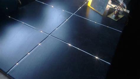 fiber optic lights turn a bathroom floor into starry sky