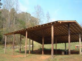 how to build an inexpensive pole barn http www