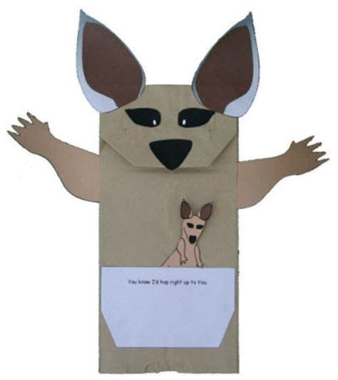How To Make A Kangaroo Out Of Paper - if i were a kangaroo paper bag puppet