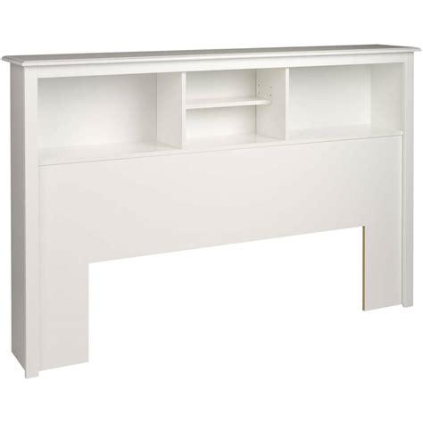 white bookcase headboard full queen adjustable storage