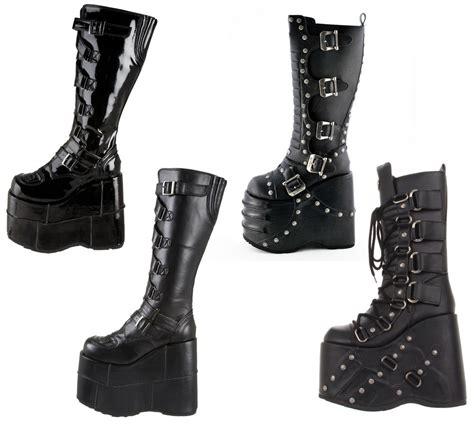 demonia platform boots demonia 7 quot platform boots stack 308 317 318 ebay