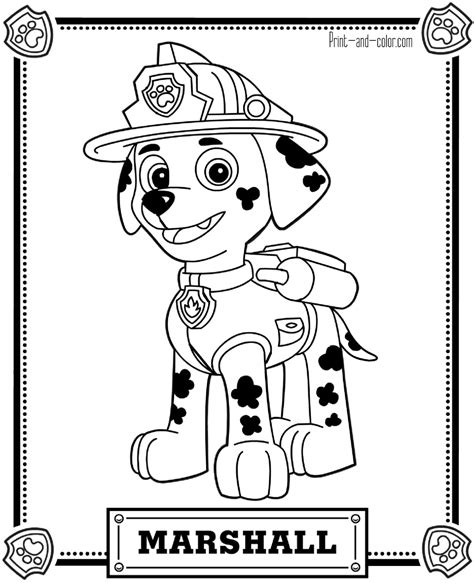 printable paw patrol paw patrol coloring pages print and color com