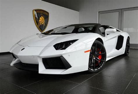 lamborghini white for sale white lamborghini aventador roadster with just