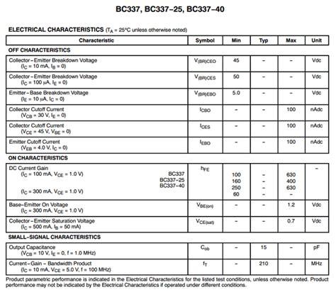 datasheet transistor npn bc337 bc337 datasheet pdf npn lifier transistors on semi