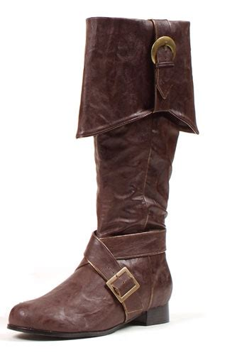 mens brown knee high boots mens knee high pirate boots brown accessory