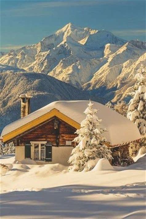 Switzerland Cabin by Snow Cabin In The Alps Switzerland Around The World