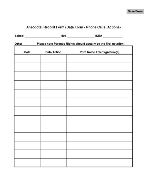 anecdotal record form for preschoolers pictures to pin on