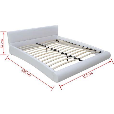 letto 140 cm letto ecopelle 140 cm bianco materasso materassino