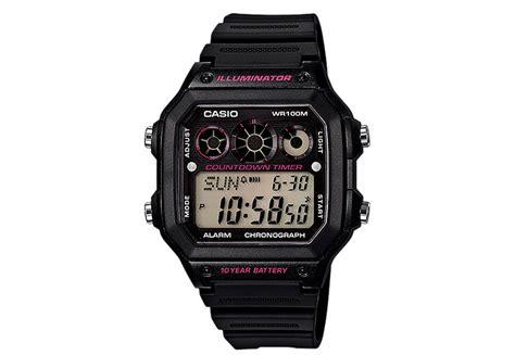 Casio Ae 1300 Wh casio watchstrap ae 1300wh 1a2vef horlogeband