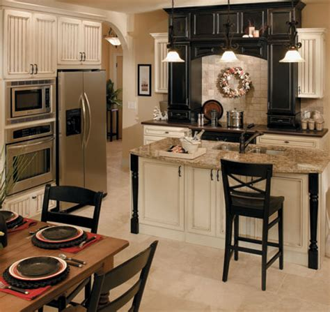 cream and black kitchen ideas semi custom cabinetry