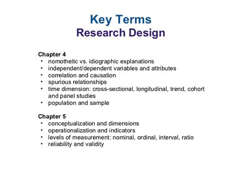 design of experiment glossary intro research methods key terms