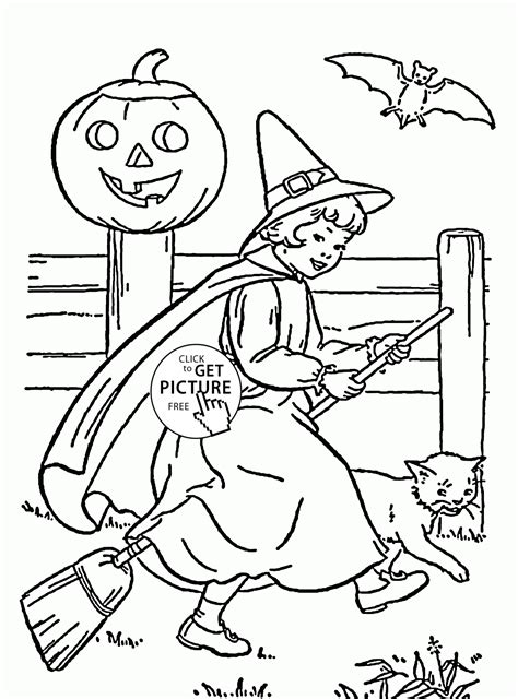 cute witch coloring page cute witch coloring pages for kids halloween printables