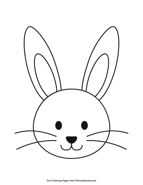 rabbit head coloring page easter coloring pages ebook simple bunny head outline