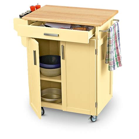 Rolling Wood Top Kitchen Cart 151282 Kitchen Dining Rolling Cart For Kitchen