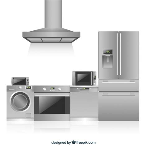 premium kitchen appliances kitchen appliances in flat design vector premium download
