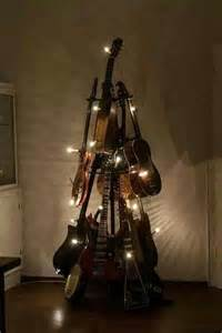 guitar tree christmas trees and decor pinterest