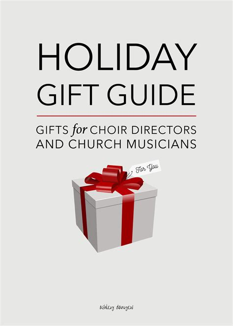 holiday gift guide gifts for choir directors church