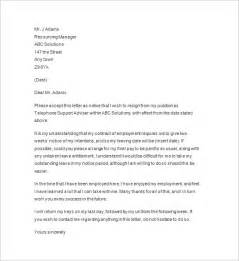 2 weeks notice template two weeks notice letter 7 free sle exle format