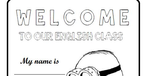imagenes english class dibujos para docentes cartel welcome to the english class