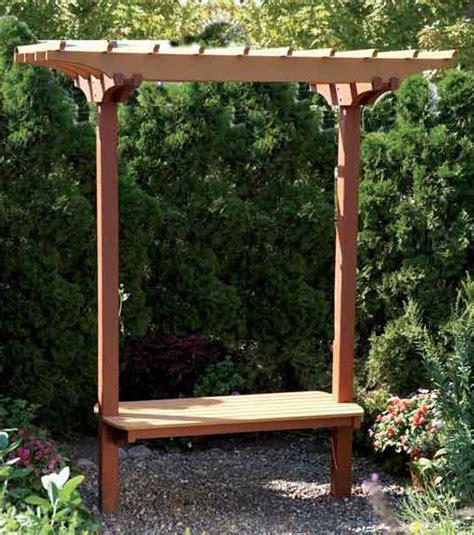 garden arbor getaway woodworking plan from wood magazine garden bench trellis woodworking plan from wood magazine