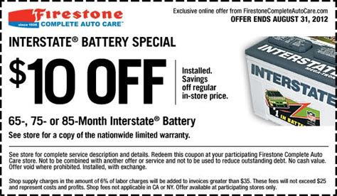 Promo Promo Promo Promo Charger Battery D C 9v Aa Aaa Merk Kon firestone coupon 10 install interstate batteries special saving regular in store price