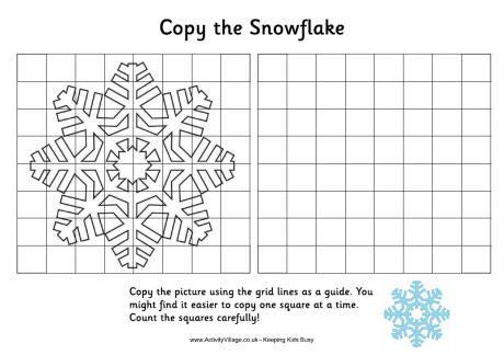 printable graph paper activity village grid copy snowflake winter lesmateriaal pinterest