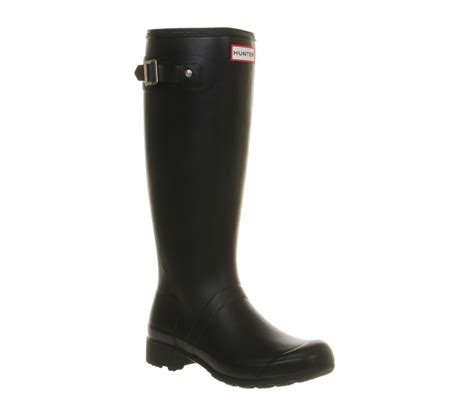 womens original tour black rubber boots ebay