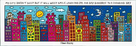 james rizzi 5 teiliges magnetboard quot city quot glas