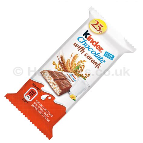 Kinder Chocolate Bar wholesale kinder chocolate with cereal bar 25p pmp hancocks