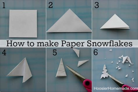 Make A Paper Snowflake - how to make snowflake yourself