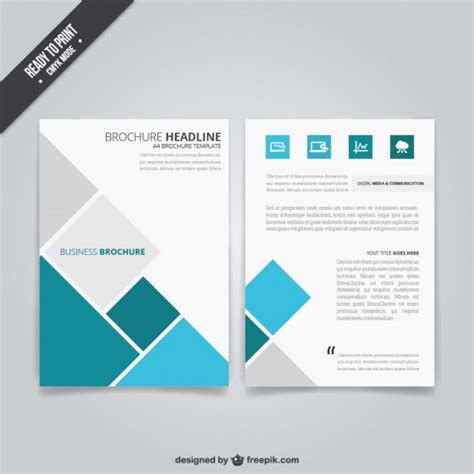 Business Brochure Template business brochure with squares vector free