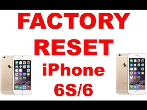 factory reset the iphone 4s factory reset iphone 6s 6 5s 5c 5 4s 4 youtube